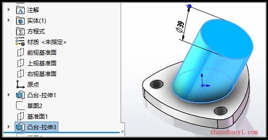 Soldworks基础练习讲解之仅使用拉伸和切除绘制异形管件