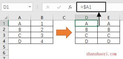 Excel公式基础之单元格引用